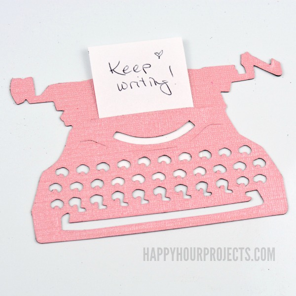 Great Gifts For Writers | DIY Typewriter Magnets at www.happyhourprojects.com