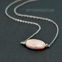 Simple Stone DIY Bead Necklace
