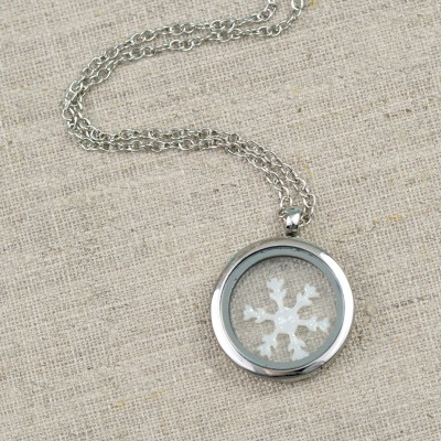 Floating Snowflake Locket
