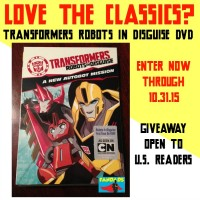 Transformers Robots In Disguise DVD Giveaway at www.happyhourprojects.com