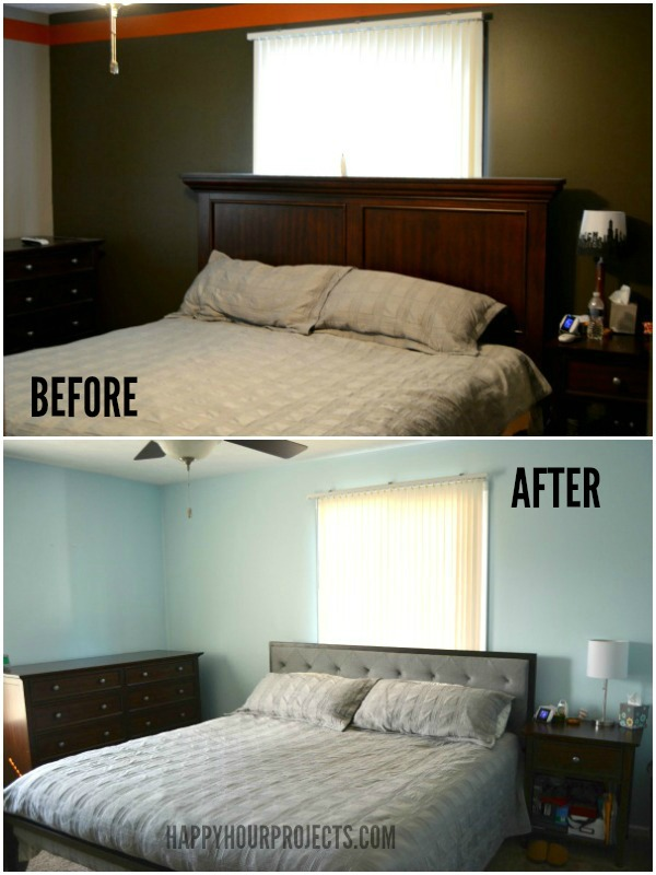 Master Bedroom Overhaul with Industrial Touches at www.happyhourprojects.com