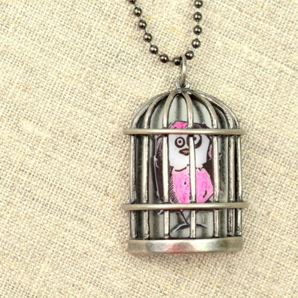 Bird Crazy Birdcage Necklace 3