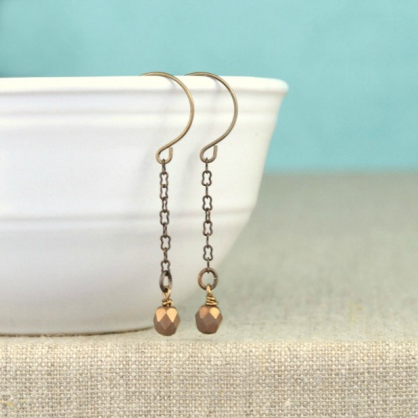 Easy DIY Drop Earrings at www.happyhourprojects.com