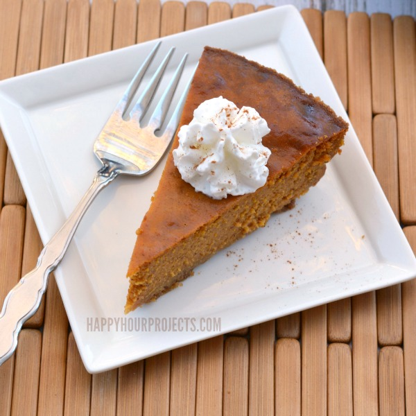 Gluten Free Pumpkin Pie Recipe at www.happyhourprojects.com