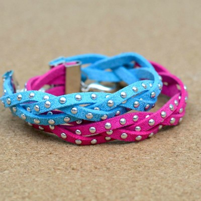 Wear it Two Ways: Magic Braid Bracelets at www.happyhourprojects.com