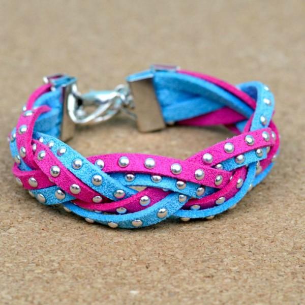 Wear it Two Ways: Magic Braid Bracelets at www.happyhourprojects.com