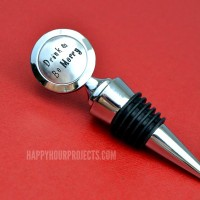 Hand Stamped Gift Ideas | Stamped Wine Stopper