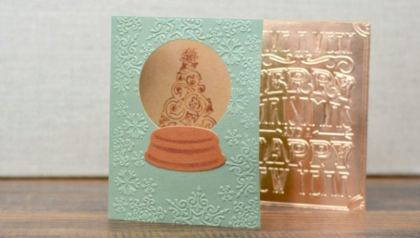Handmade Christmas Card Ideas at www.happyhourprojects.com | Embossing can make up a special-looking card in minutes - perfect for those last-minute ones you still want to give!