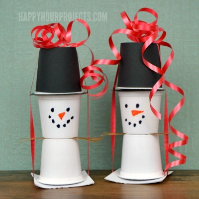 Holiday Food Gifts | Easy KCup Snowmen at www.happyhourprojects.com