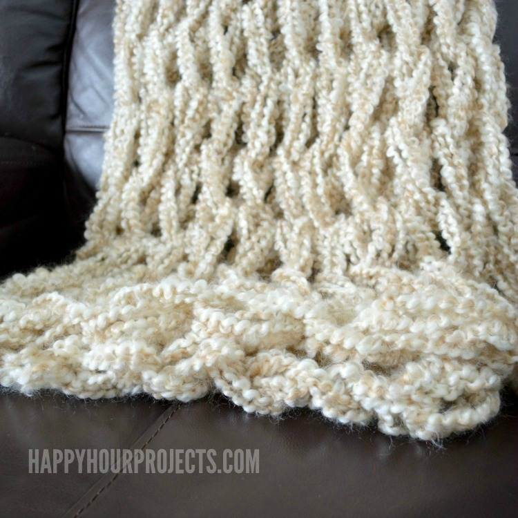 Hand Knitting With Arms : Arm knitted blanket happy hour projects