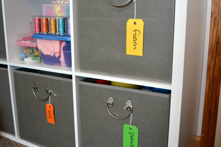 Craft Room Organization at www.happyhourprojects.com