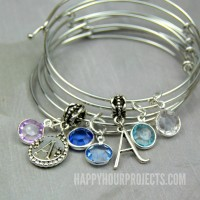 Easy DIY Charm Bangle Bracelets