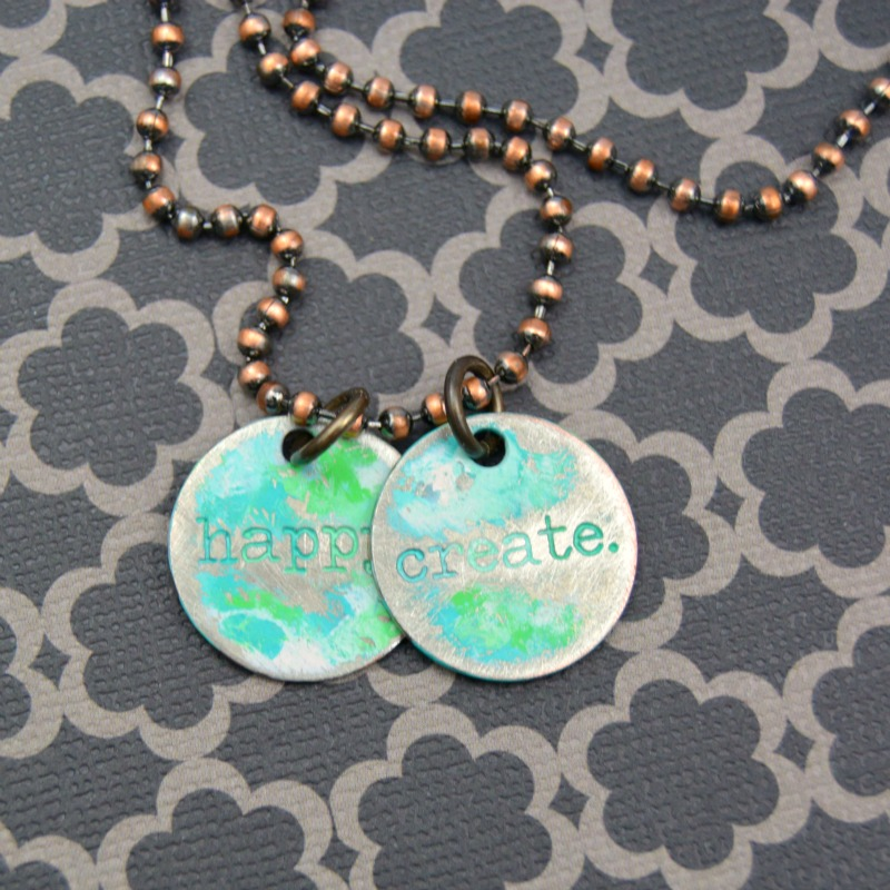 Create Happy Charm Necklace at happyhourprojects.com