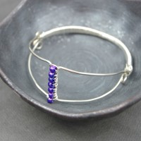 Wire Wrapped Bangle at happyhourprojects.com