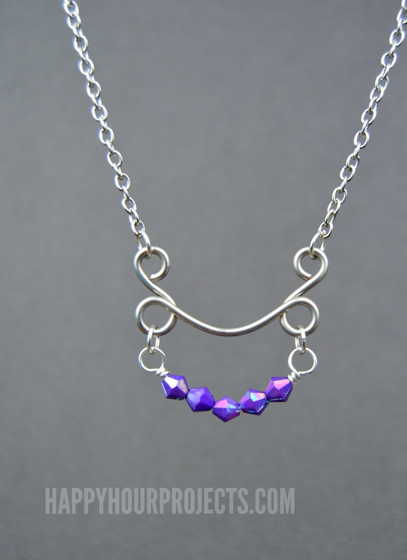 DIY Beaded Arc Wire Necklace - Happy Hour Projects