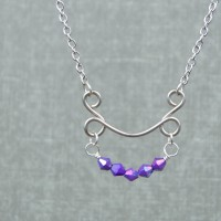 DIY Beaded Arc Wire Necklace