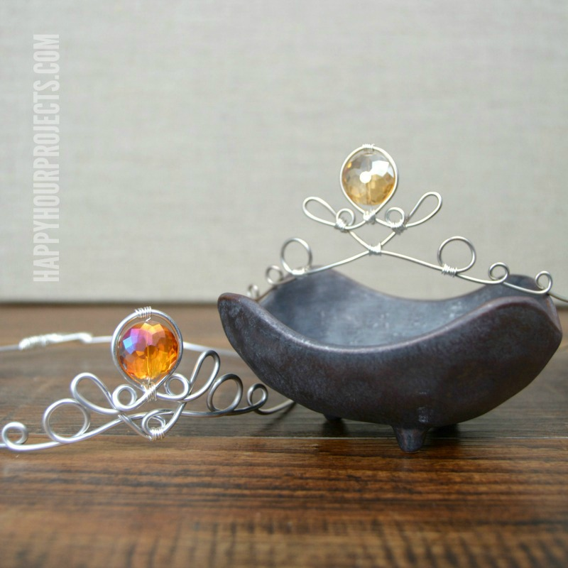 Wire Wrapped Princess Tiara at happyhourprojects.com
