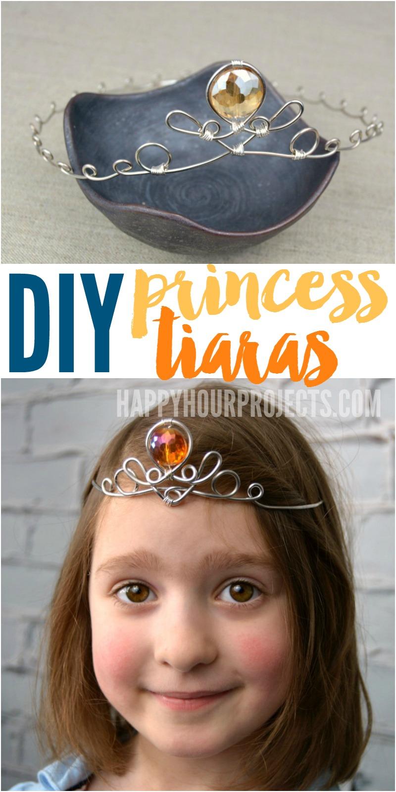 DIY Princess Tiara at happyhourprojects.com