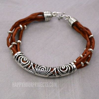 Silk & Silver Easy Layered DIY Bracelet