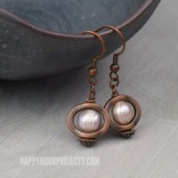 Copper and Pearl DIY Earrings