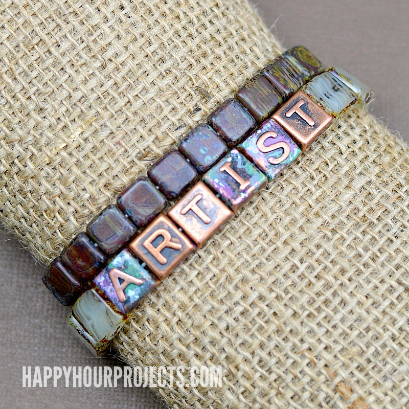 Copper & Glass Artist Bracelet Tutorial | happyhourprojects.com