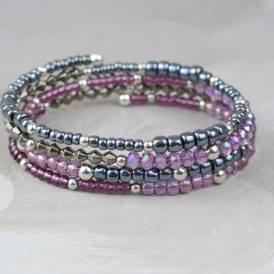 Memory Wire Bracelet at happyhourprojects.com