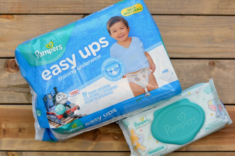 Potty Training with New Pampers Easy Ups [AD] at happyhourprojects.com