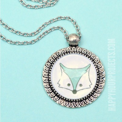 DIY Cabochon Necklaces at happyhourprojects.com