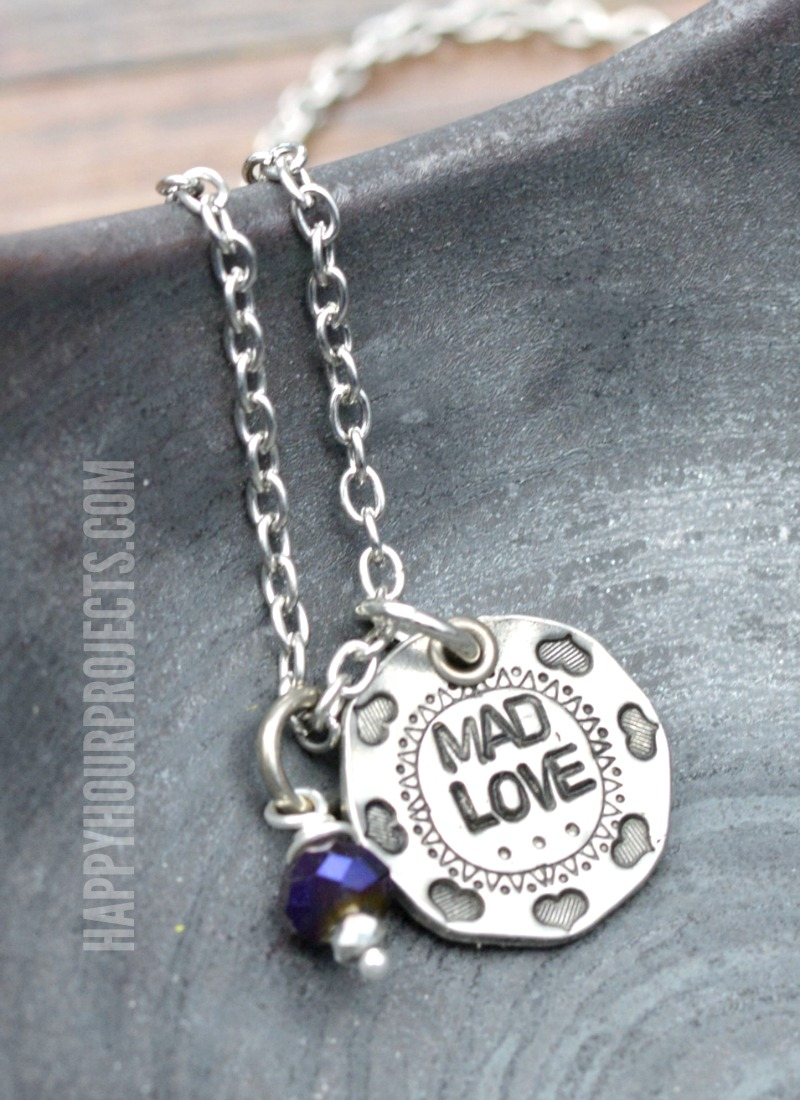 Mad Love Hand Stamped Necklace at happyhourprojects.com