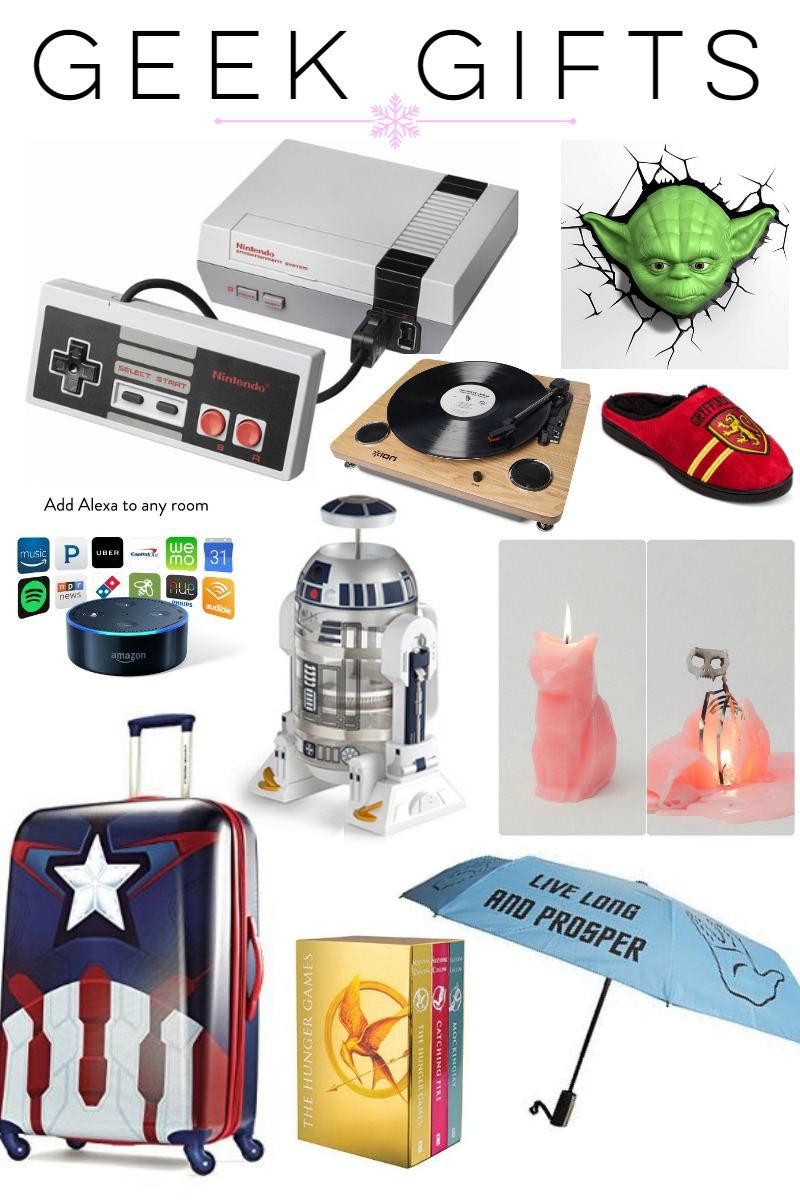 Gift Guide: Geek Gift Ideas at happyhourprojects.com