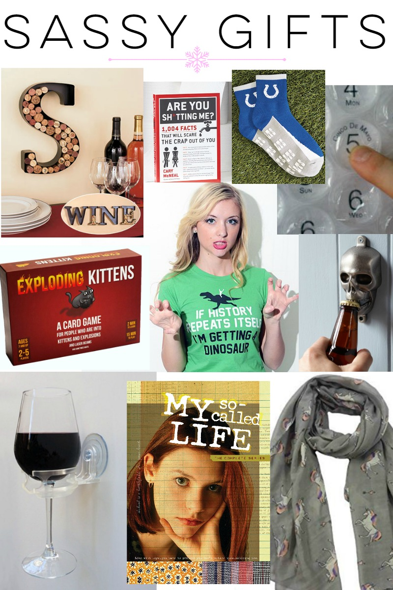 Gift Guide: Sassy Gift Ideas at happyhourprojects.com