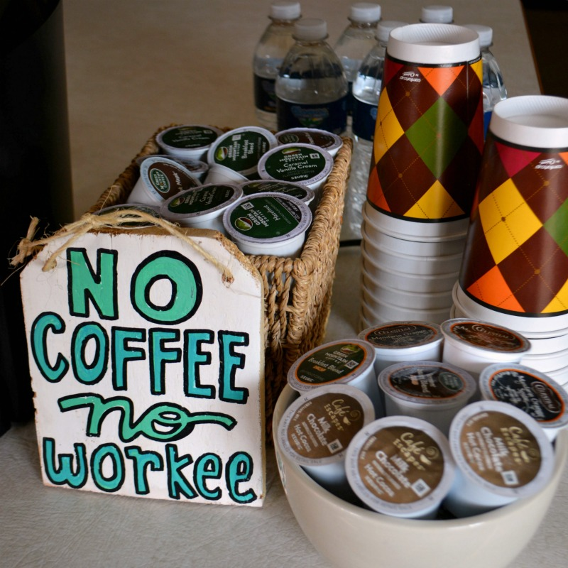 How to Host a Coffee Bar for casual entertaining at happyhourprojects.com