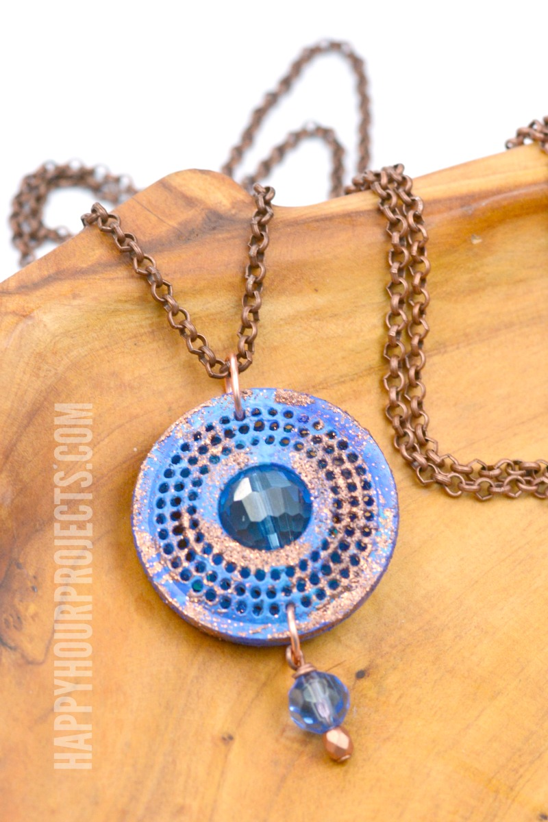 Recycled K Cup Crafts Diy Gem Necklace Happy Hour Projects