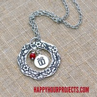 Hand Stamped Jewelry | Design Stamps Wreath Necklace