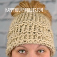 DIY Messy Bun Hat | Loom Knitter Pattern for Beginners