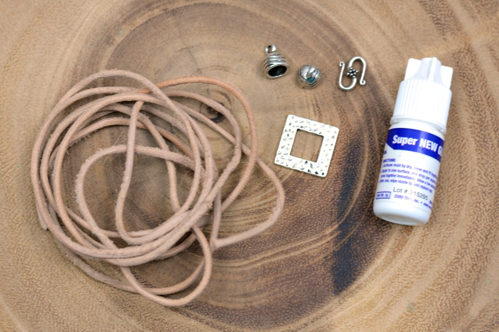 Layers of Leather   Multi-Strand Leather + Pewter Bracelet at happyhourprojects.com