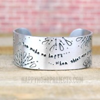 Hand Stamped Jewelry | The Sunshine Cuff
