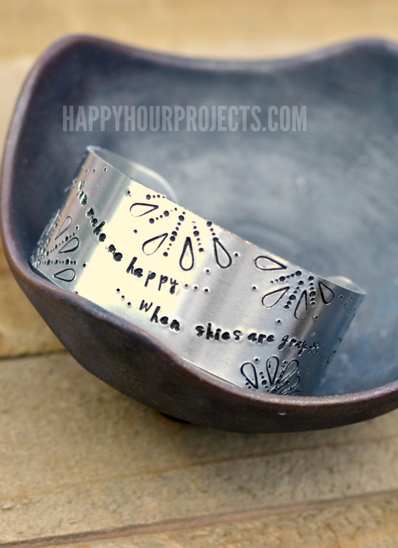 Hand Stamped Jewelry | The Sunshine Cuff at happyhourprojects.com