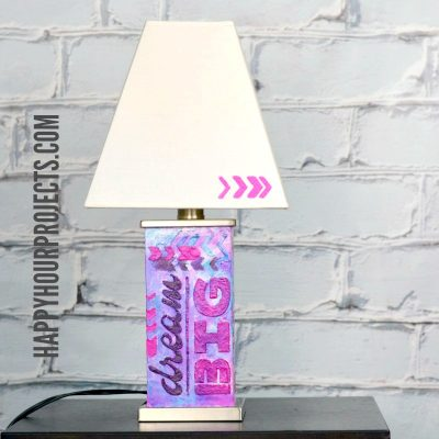 DIY Home Decor | Dream Big Lamp Makeover