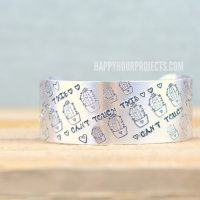 Hand Stamped Jewelry | Cactus Cuff with New Succulent Stamps at happyhourprojects.com