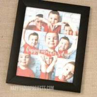 Mother's Day Gifts | DIY Photo Art - How to Make Body Art at happyhourprojects.com
