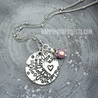 Hand Stamped Jewelry | Mandala-Style Heart Pendant