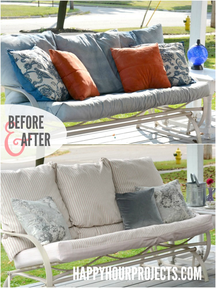 Favorite Spaces | A Waverly Fabric Deck Makeover at happyhourprojects.com
