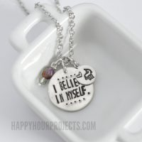 I Believe In Myself Unicorn Necklace | Design A Custom Jewelry Stamp