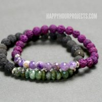 DIY Lava Oil Diffuser Bracelets at happyhourprojects.com | All-natural beginners jewelry project that's great for gifts and everyday wear!