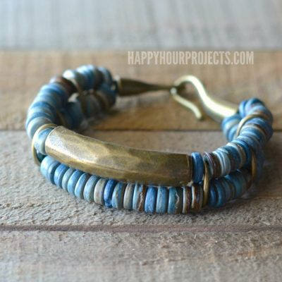 Brass+ Coconut DIY Bead Bracelet
