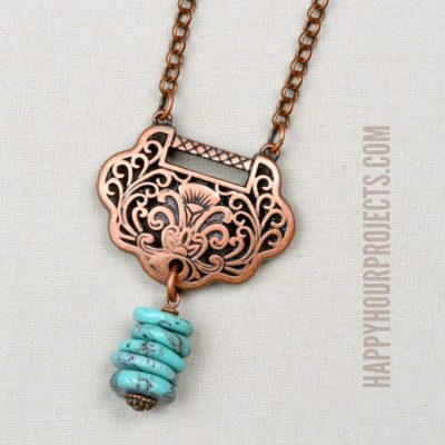 Copper + Turquoise DIY Necklace