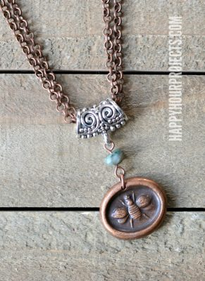 "Mixed Metal ""Bee Yourself"" DIY Necklace"