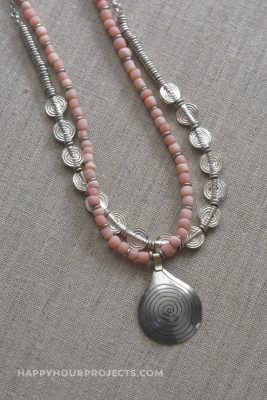 Coral Spiral DIY Necklace