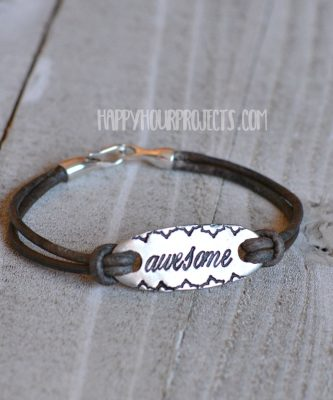 DIY Stamped Leather Bracelet | Awesome